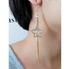 Exaggerated Crystal Tassels Party Earrings - Oh Yours Fashion - 33