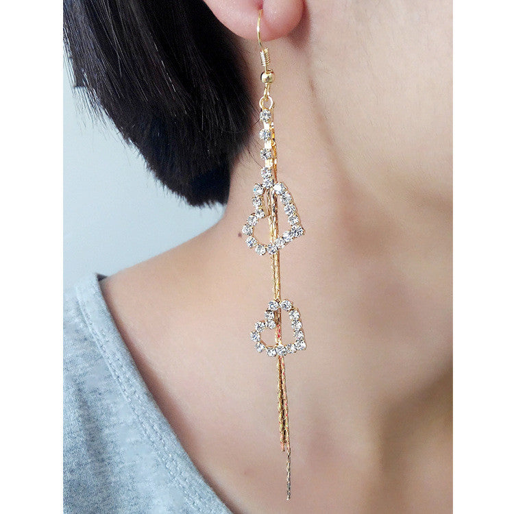 Exaggerated Crystal Tassels Party Earrings - Oh Yours Fashion - 35