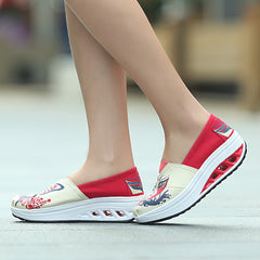 Shaking Print Women's Breathable Sneakers - Oh Yours Fashion - 10