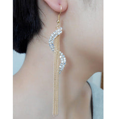 Exaggerated Crystal Tassels Party Earrings - Oh Yours Fashion - 21