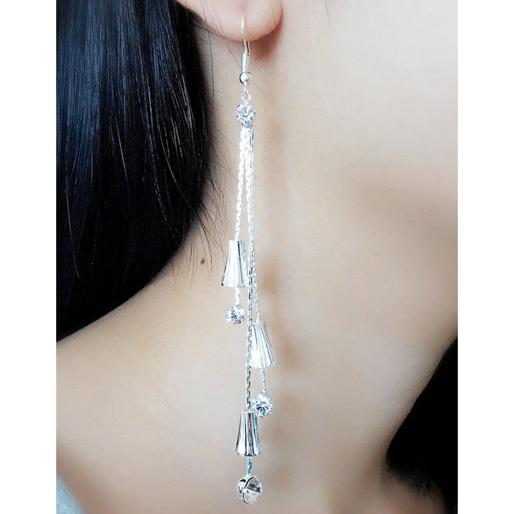 Exaggerated Crystal Tassels Party Earrings - Oh Yours Fashion - 7
