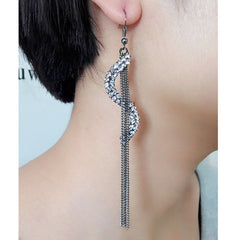 Exaggerated Crystal Tassels Party Earrings - Oh Yours Fashion - 22