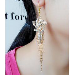 Exaggerated Crystal Tassels Party Earrings - Oh Yours Fashion - 14
