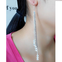 Exaggerated Crystal Tassels Party Earrings - Oh Yours Fashion - 32