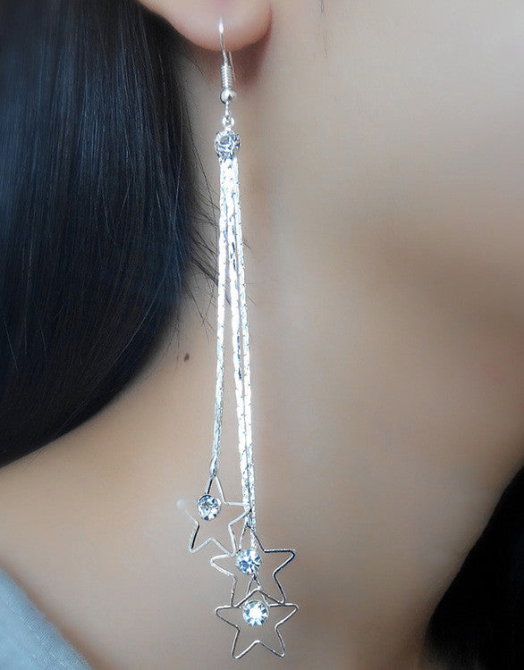 Exaggerated Crystal Tassels Party Earrings - Oh Yours Fashion - 24