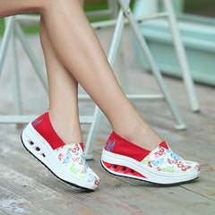 Shaking Print Women's Breathable Sneakers - Oh Yours Fashion - 13