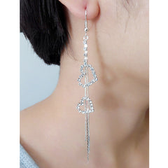 Exaggerated Crystal Tassels Party Earrings - Oh Yours Fashion - 36