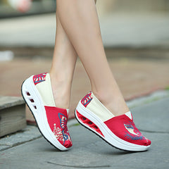 Shaking Print Women's Breathable Sneakers - Oh Yours Fashion - 9