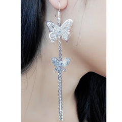 Exaggerated Crystal Tassels Party Earrings - Oh Yours Fashion - 43