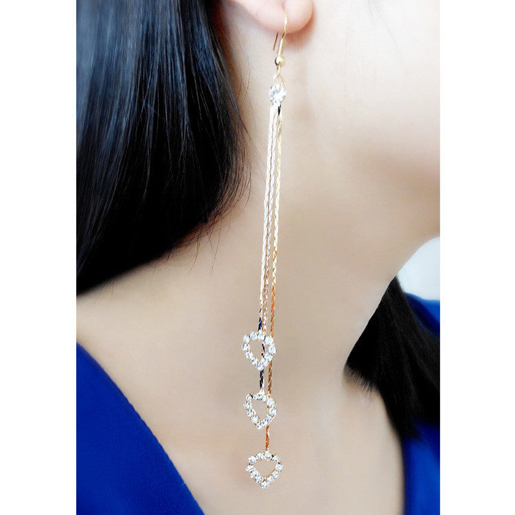 Exaggerated Crystal Tassels Party Earrings - Oh Yours Fashion - 25