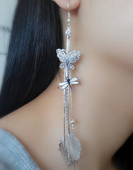 Exaggerated Crystal Tassels Party Earrings - Oh Yours Fashion - 6