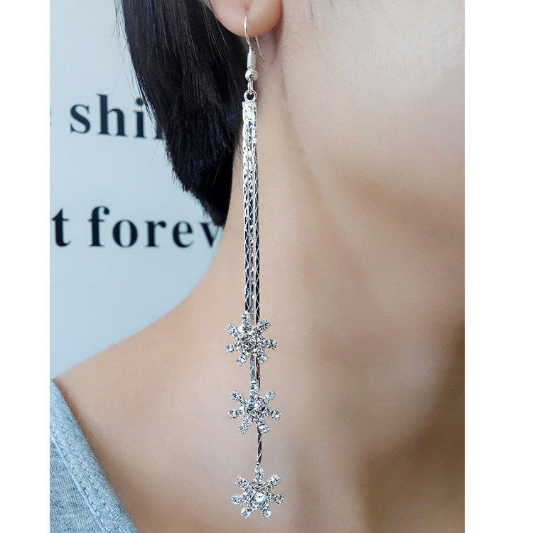 Exaggerated Crystal Tassels Party Earrings - Oh Yours Fashion - 30