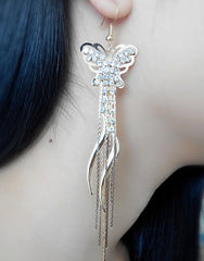 Exaggerated Crystal Tassels Party Earrings - Oh Yours Fashion - 17