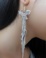 Exaggerated Crystal Tassels Party Earrings - Oh Yours Fashion - 18
