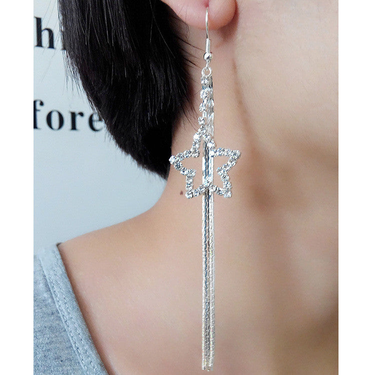 Exaggerated Crystal Tassels Party Earrings - Oh Yours Fashion - 34