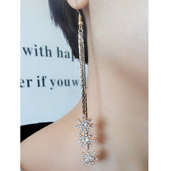 Exaggerated Crystal Tassels Party Earrings - Oh Yours Fashion - 29