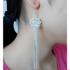 Exaggerated Crystal Tassels Party Earrings - Oh Yours Fashion - 11