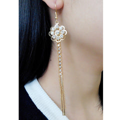 Exaggerated Crystal Tassels Party Earrings - Oh Yours Fashion - 10