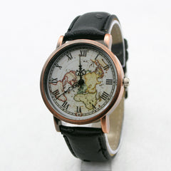 Hot Style Fake Ostrich Strap Map Watch - Oh Yours Fashion - 2