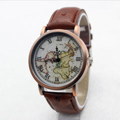 Hot Style Fake Ostrich Strap Map Watch - Oh Yours Fashion - 3