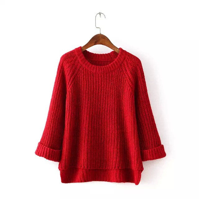 Knitting Bell Sleeve Thick Sweater - Oh Yours Fashion - 6