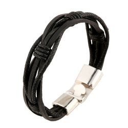 Fashion Braided Leather Bracelet - Oh Yours Fashion - 1