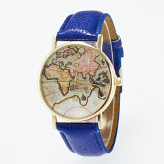 Vintage Map Dial Leather Fashion Watch - Oh Yours Fashion - 5