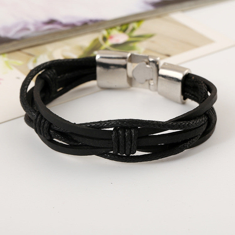 Fashion Braided Leather Bracelet - Oh Yours Fashion - 3