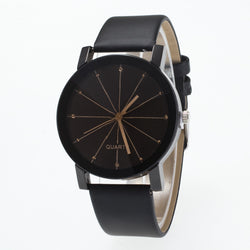 Black Round Dial Crystal Couple Watch - Oh Yours Fashion - 1
