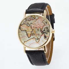 Vintage Map Dial Leather Fashion Watch - Oh Yours Fashion - 6