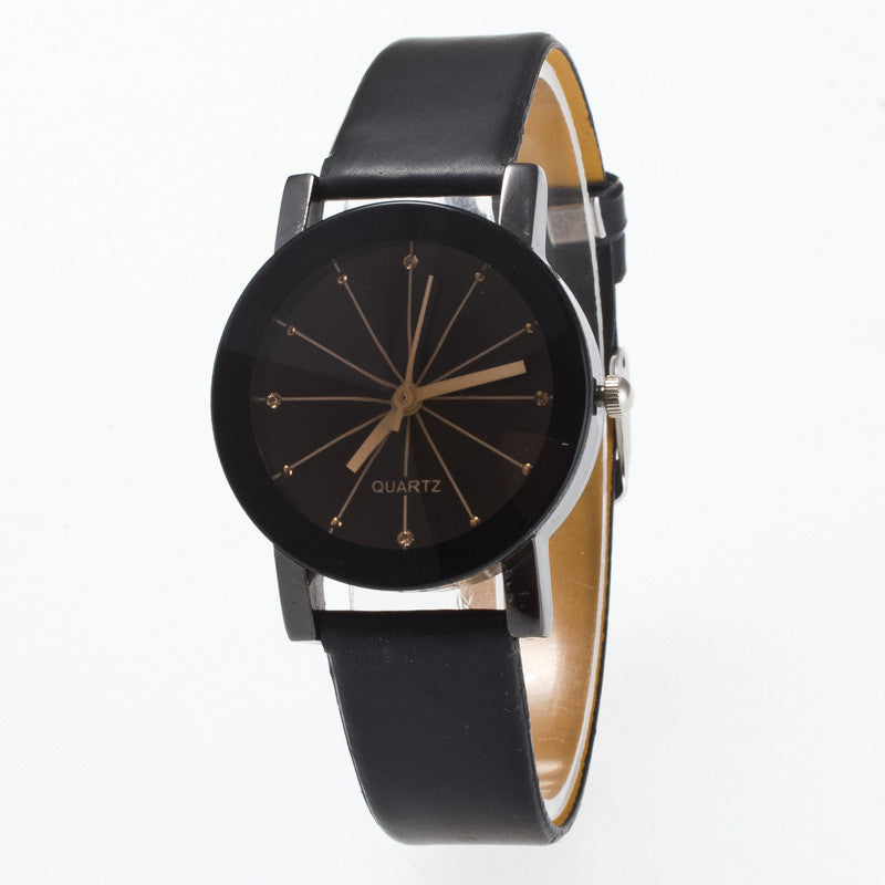 Black Round Dial Crystal Couple Watch - Oh Yours Fashion - 2
