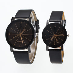 Black Round Dial Crystal Couple Watch - Oh Yours Fashion - 3
