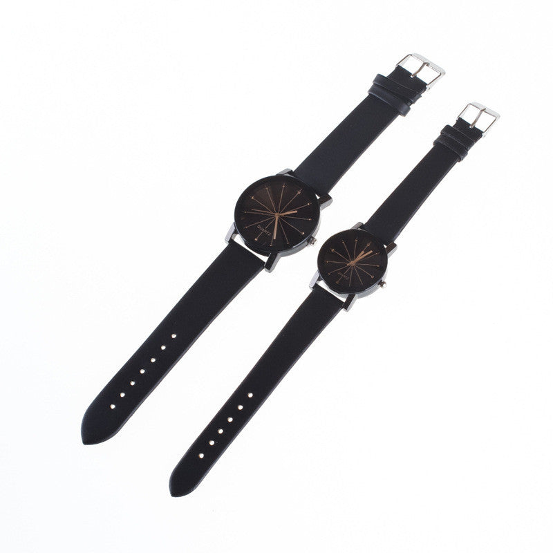 Black Round Dial Crystal Couple Watch - Oh Yours Fashion - 6