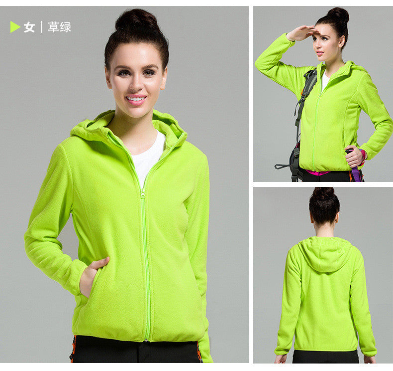 Outdoors Windproof Hooded Pure Color Cardigan Hoodie - Oh Yours Fashion - 9