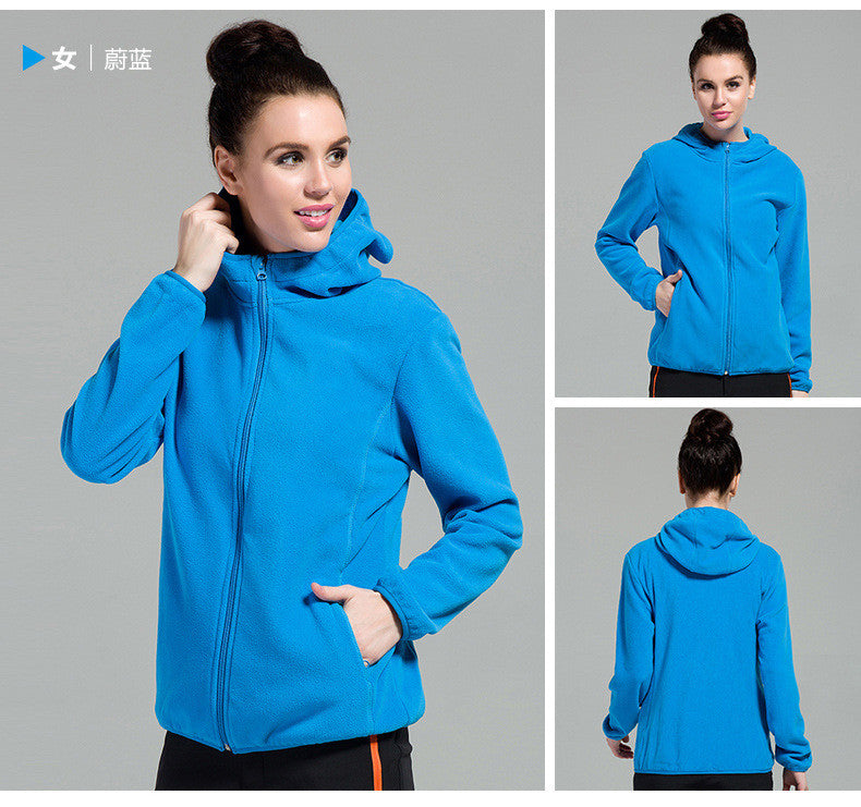 Outdoors Windproof Hooded Pure Color Cardigan Hoodie - Oh Yours Fashion - 4