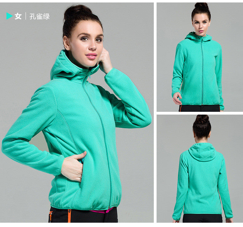 Outdoors Windproof Hooded Pure Color Cardigan Hoodie - Oh Yours Fashion - 5