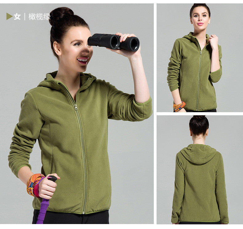Outdoors Windproof Hooded Pure Color Cardigan Hoodie - Oh Yours Fashion - 10