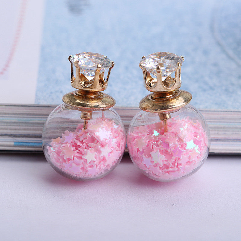 Fashion Glass Ball Color Star Earring - Oh Yours Fashion - 5