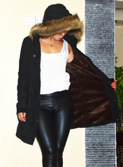 Faux Fur Collar Long Winter Hooded Coat - Oh Yours Fashion - 7