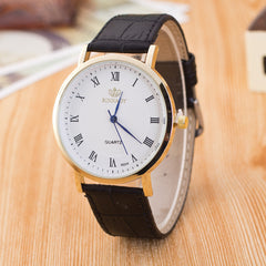 Roman Number Casual Leather Watch - Oh Yours Fashion - 1