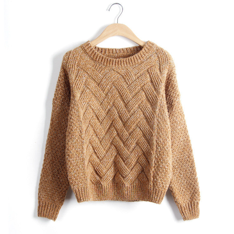 Scoop Pull Over Knitting Sweater - Oh Yours Fashion - 7