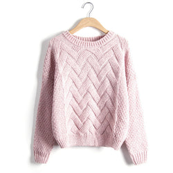 Scoop Pull Over Knitting Sweater - Oh Yours Fashion - 3