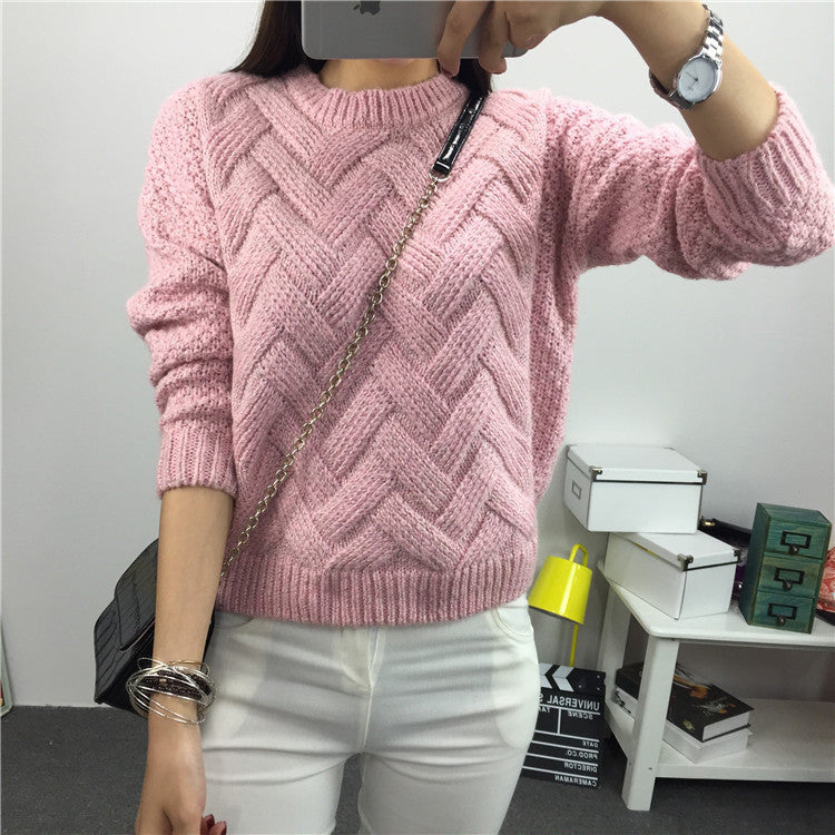 Scoop Pull Over Knitting Sweater - Oh Yours Fashion - 10