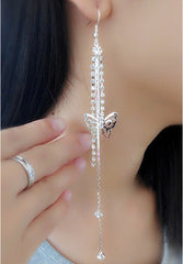 Exaggerated Crystal Tassels Party Earrings - Oh Yours Fashion - 9