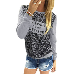 Leopard Print Long Sleeve Scoop Neck T-shirt - Oh Yours Fashion - 2