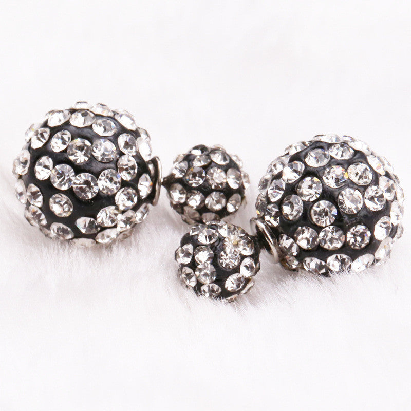 Crystal Double Shambhala Ball Earring - Oh Yours Fashion - 9