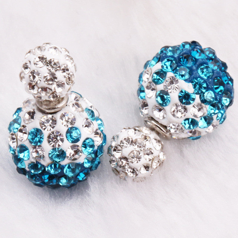 Crystal Double Shambhala Ball Earring - Oh Yours Fashion - 18