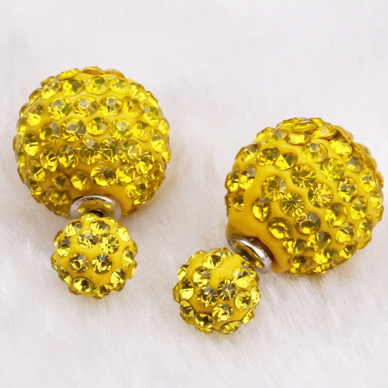 Crystal Double Shambhala Ball Earring - Oh Yours Fashion - 16