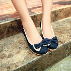 Sweet Bowknot Lace Wedge Heel Shoes - Oh Yours Fashion - 4