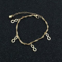 Golden Lucky 8 Women's Anklet - Oh Yours Fashion - 2